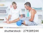 doctor examining her patient... | Shutterstock . vector #279289244