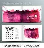 brochure design water color... | Shutterstock .eps vector #279290225