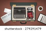 reporter and writer vintage...   Shutterstock .eps vector #279291479