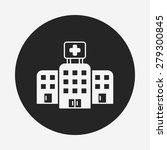 hospital building icon | Shutterstock .eps vector #279300845