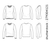 clothing set. front  back and... | Shutterstock .eps vector #279304121