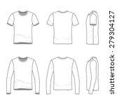 men's clothing set. front  back ...   Shutterstock .eps vector #279304127