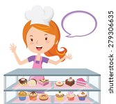 pastry chef. vector... | Shutterstock .eps vector #279306635