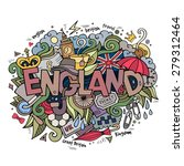 england hand lettering and... | Shutterstock .eps vector #279312464