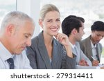 business team taking notes... | Shutterstock . vector #279314411