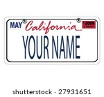 california license plate | Shutterstock .eps vector #27931651