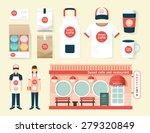 Vector Restaurant Cafe Set Sho...