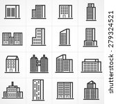 vector town and building icon... | Shutterstock .eps vector #279324521
