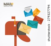 e mail concept . marketing e... | Shutterstock .eps vector #279327794