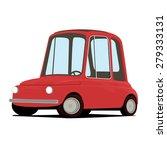 funny cartoon car illustration | Shutterstock . vector #279333131
