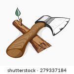 illustration of ax and log.... | Shutterstock .eps vector #279337184