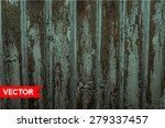 vector old wooden fence with... | Shutterstock .eps vector #279337457
