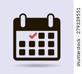 calendar flat icon   vector | Shutterstock .eps vector #279339551