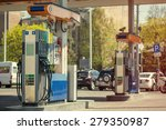 modern gas station  toned image | Shutterstock . vector #279350987