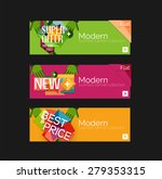 set of banners with stickers ... | Shutterstock .eps vector #279353315