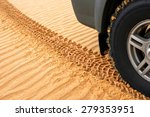 Trace Of Rubber Tires Suv In...