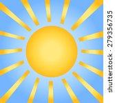sun with rays on a blue sky.... | Shutterstock .eps vector #279356735