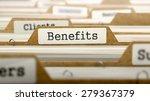 benefits concept. word on... | Shutterstock . vector #279367379