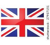 Glossy jpeg illustration of the Union Jack, the British flag - stock photo