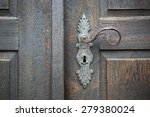 old wooden entrance door with... | Shutterstock . vector #279380024
