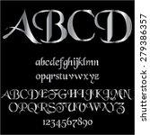 silver decorative font | Shutterstock .eps vector #279386357
