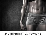 close up of fit woman's torso.... | Shutterstock . vector #279394841
