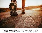 running shoes closeup  | Shutterstock . vector #279394847