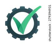 v letter or check mark ... | Shutterstock .eps vector #279394931