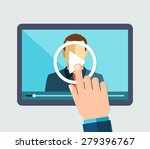 vector flat illustration of... | Shutterstock .eps vector #279396767
