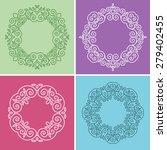 cute 4 geometric floral frames... | Shutterstock .eps vector #279402455