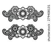 mehndi  indian henna tattoo... | Shutterstock .eps vector #279408131