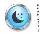 moon and stars night button | Shutterstock .eps vector #279415151