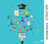 online education vector concept ... | Shutterstock .eps vector #279417359