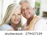 portrait of romantic senior... | Shutterstock . vector #279427139