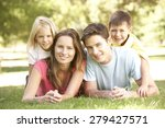 young family relaxing together... | Shutterstock . vector #279427571