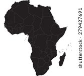africa map | Shutterstock .eps vector #279427691