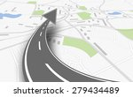 navigation concept with map and ... | Shutterstock .eps vector #279434489
