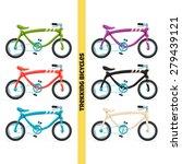 a set of concepts trekking bike ... | Shutterstock .eps vector #279439121