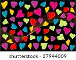 love abstract design background | Shutterstock .eps vector #27944009