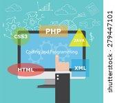 web development concept | Shutterstock .eps vector #279447101