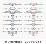 set of linear empty  flat... | Shutterstock .eps vector #279447155