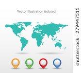 world map | Shutterstock .eps vector #279447515