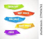 vector low poly labels | Shutterstock .eps vector #279456761