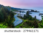 Sunrise Of Oregon Coastline