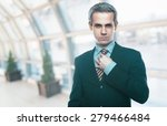 a handsome man in a jacket and...   Shutterstock . vector #279466484