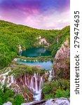 waterfalls in plitvice national ... | Shutterstock . vector #279474635