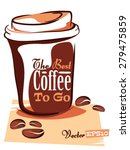 coffee to go  isolated object | Shutterstock .eps vector #279475859
