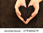 female handful of soil in shape ... | Shutterstock . vector #279484679