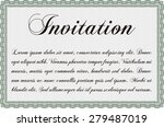 vintage invitation. vector... | Shutterstock .eps vector #279487019