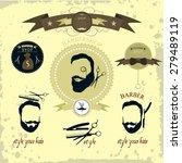 men's hipster hairdresser.... | Shutterstock .eps vector #279489119